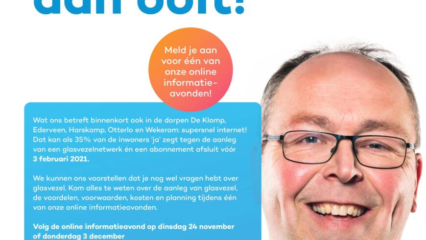 Informatieavonden over glasvezel in Wekerom 24 nov en 3 dec